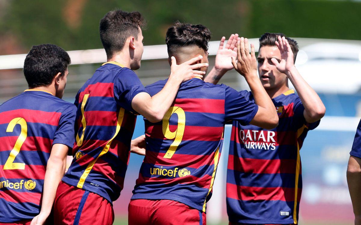 Juvenil B - Mercantil: Seis goles para creer en el título (6-0)