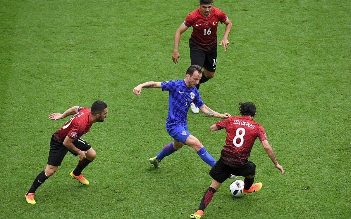 Rakitic gets one up on Arda as Croatia narrowly beat Turkey