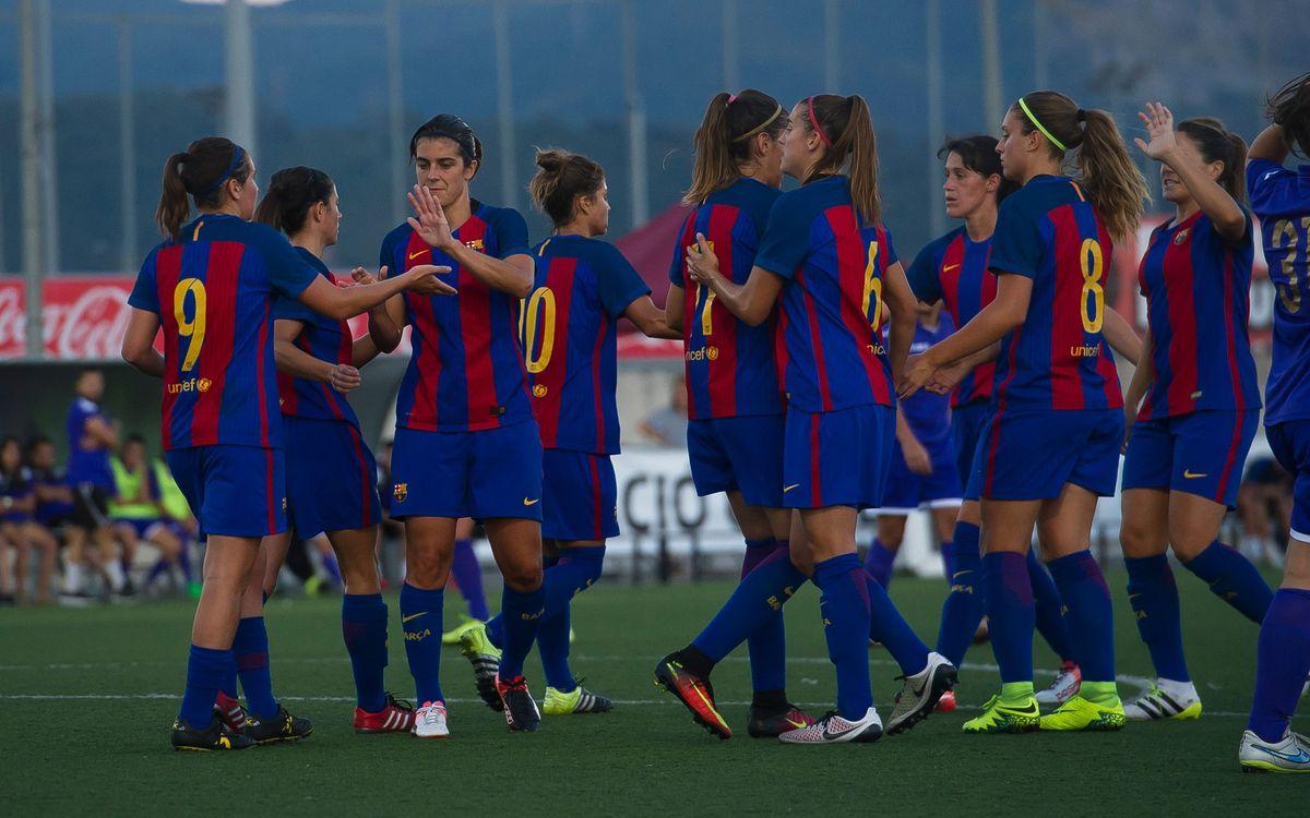 FC Barcelona Femení - CE Pontenc: Superioritat abismal i a la final (20-0)