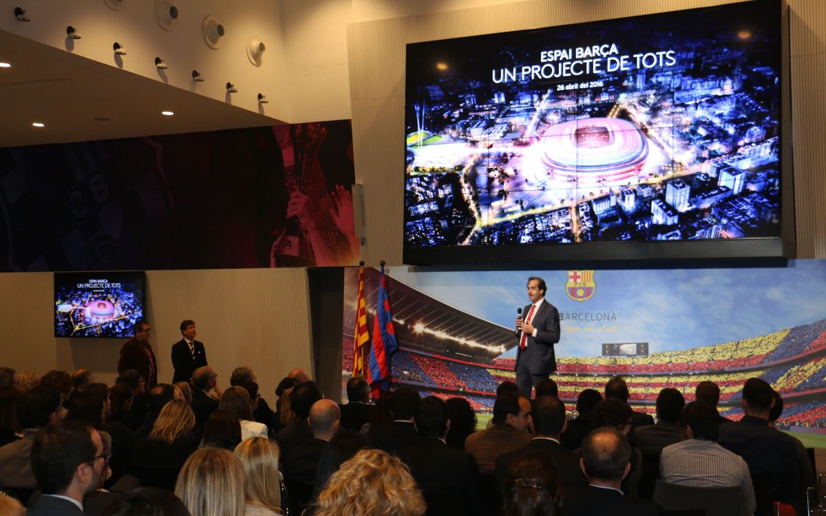 El Espai Barça, presentado a los empleados del FC Barcelona