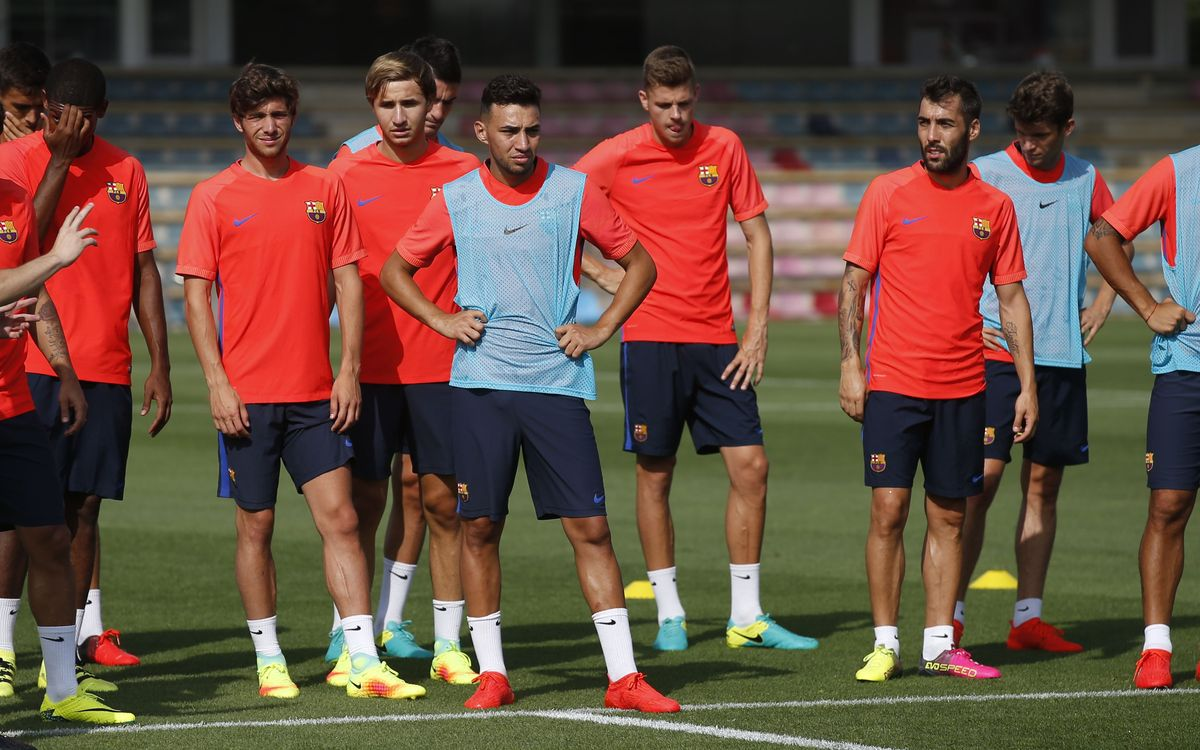 Third day of training at Ciutat Esportiva