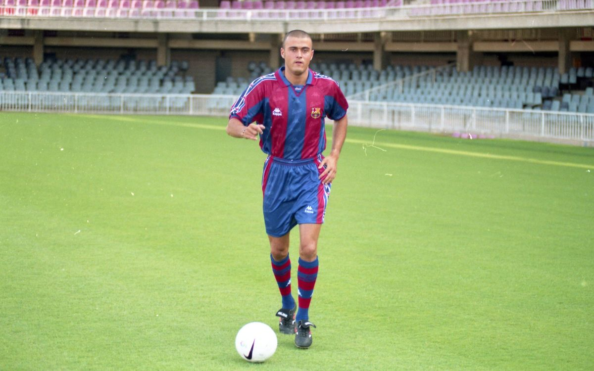 Twenty years since Luis Enrique signed for FC Barcelona