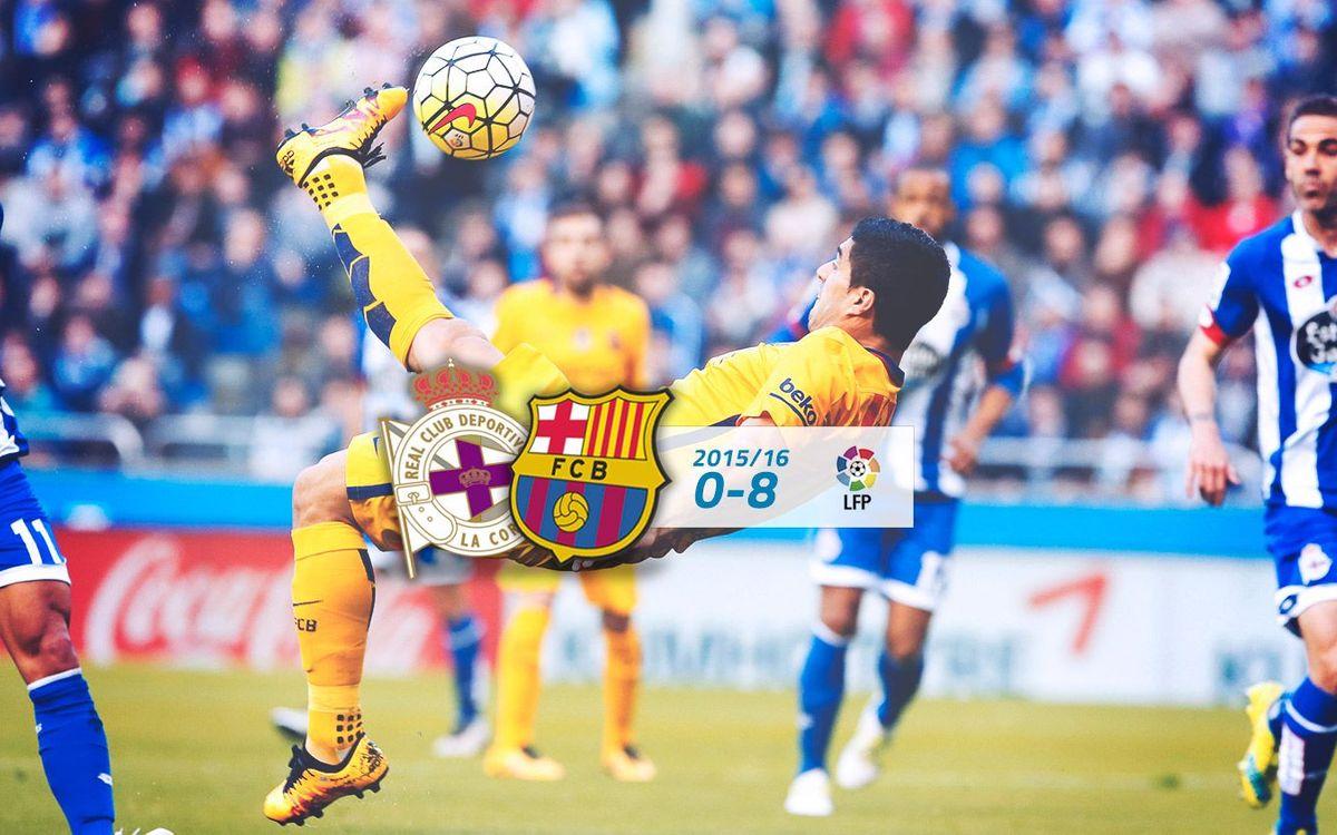 Deportivo: 0 - FC Barcelona: 8