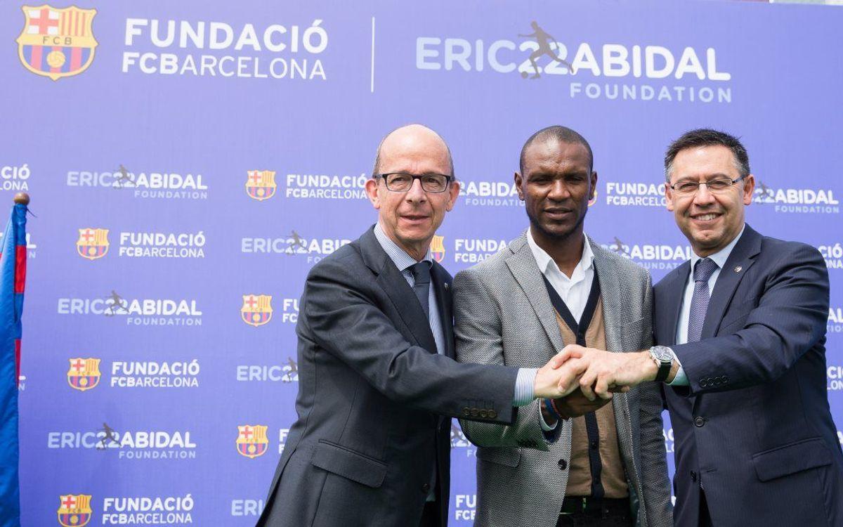 Accord entre la Fondation FC Barcelone et la Fondation Éric Abidal