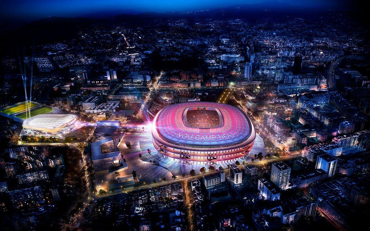 Todo listo para la presentación del Nuevo Camp Nou