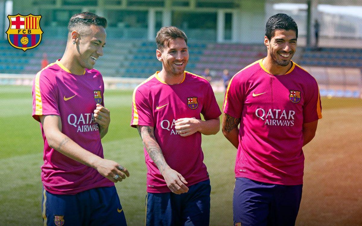Images exclusives de l'entraînement du Barça