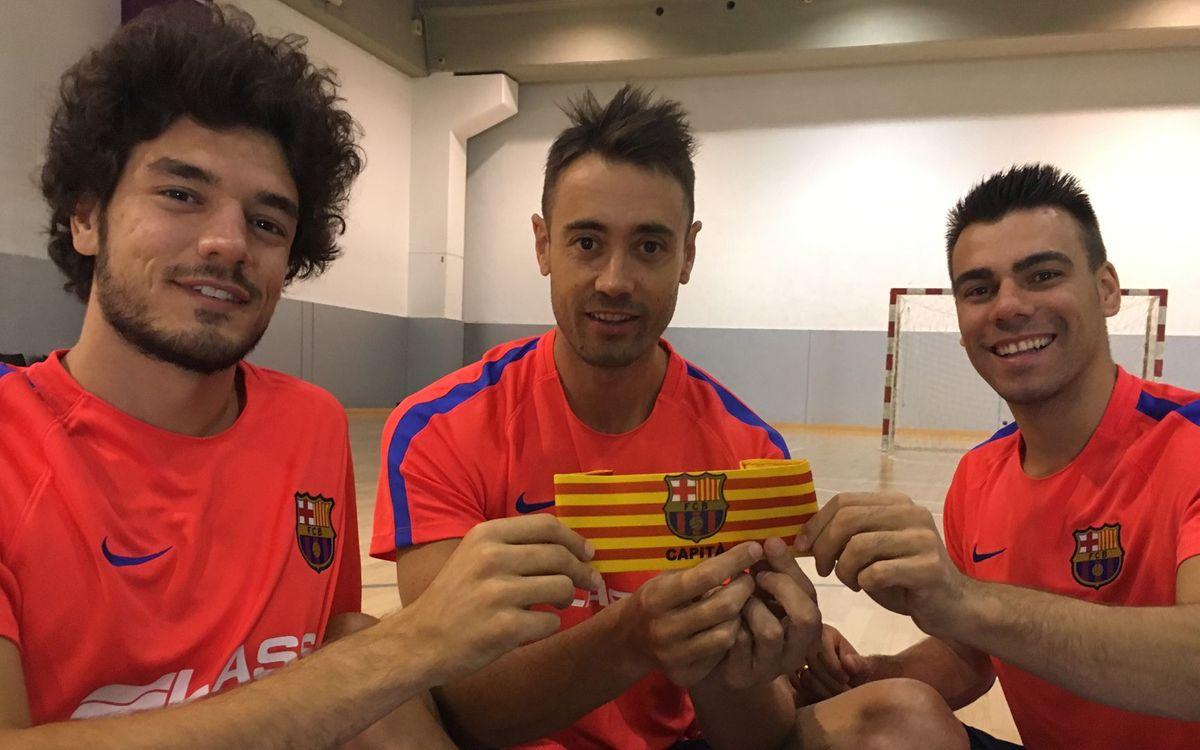 Sedano, Lozano y Tolrà, los capitanes del Barça Lassa 2016/17