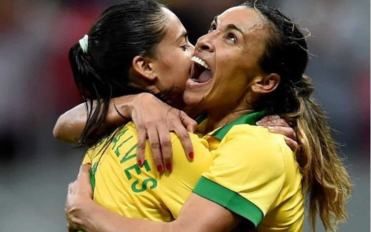 Golejada del Brasil d'Andressa Alves a Suècia (5-1)