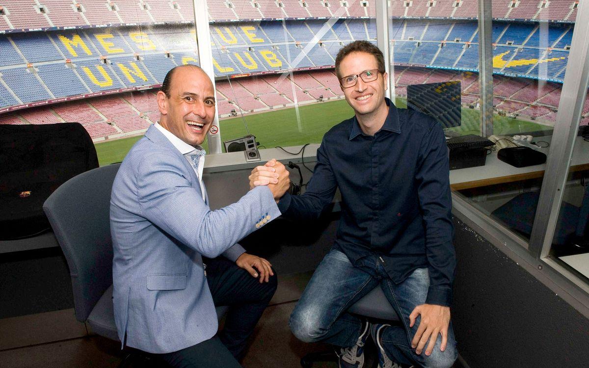 Carles Vich and Aleix Santacana new stadium announcers at Camp Nou