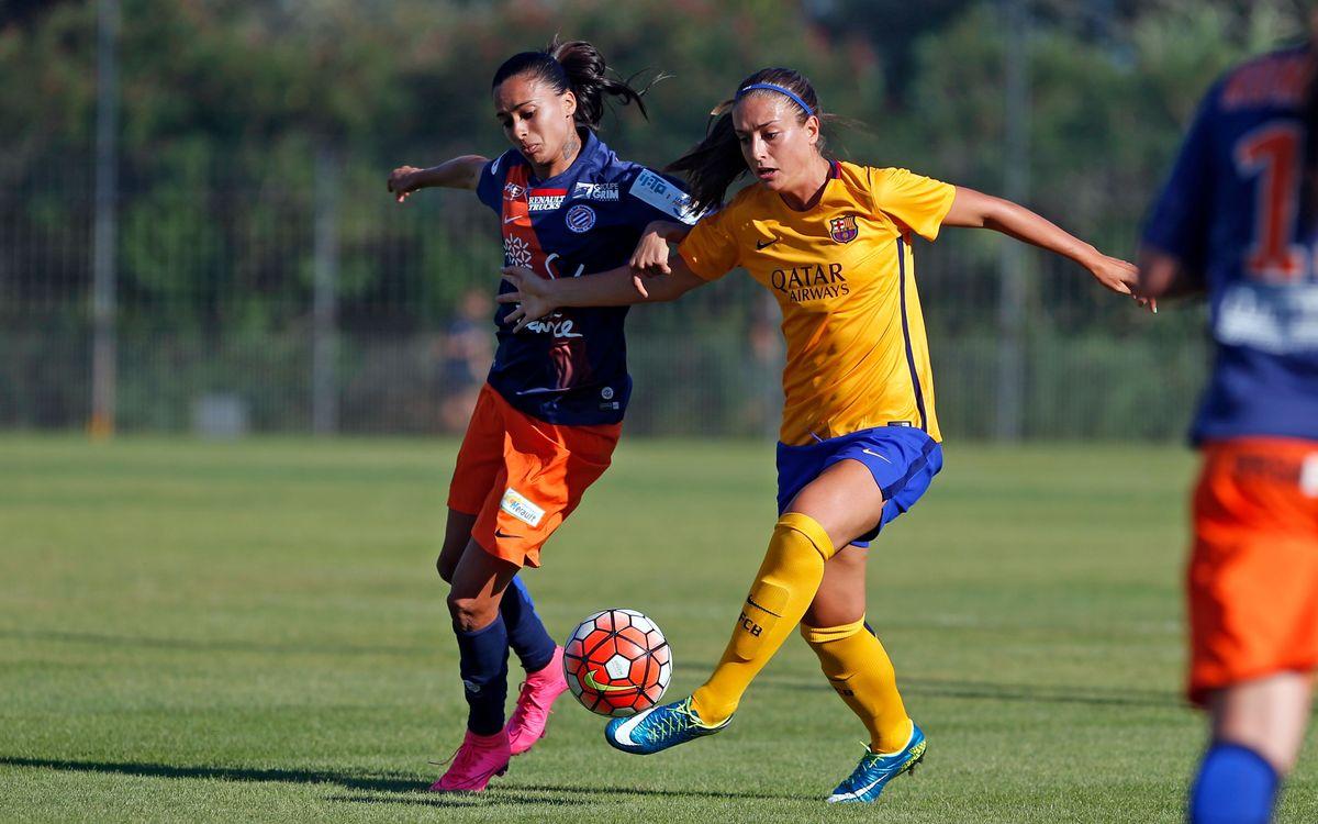 Andressa Alves, contra el Barça l'estiu passat