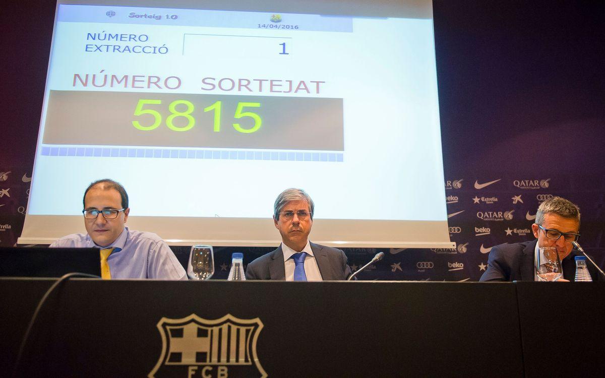 Las solicitudes del 5.815 al 11.431 obtienen las entradas para la Copa