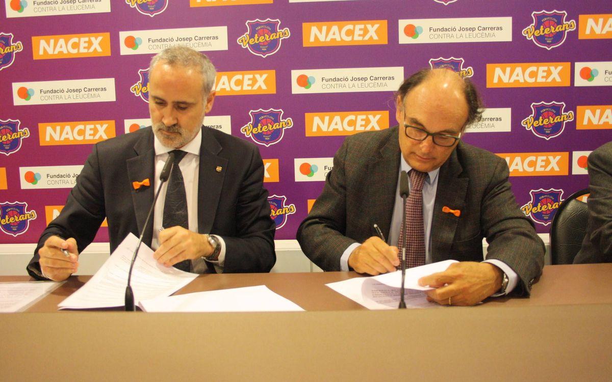 Acuerdo de los Veteranos Basket FCB y la Fundación Josep Carreras contra la leucemia