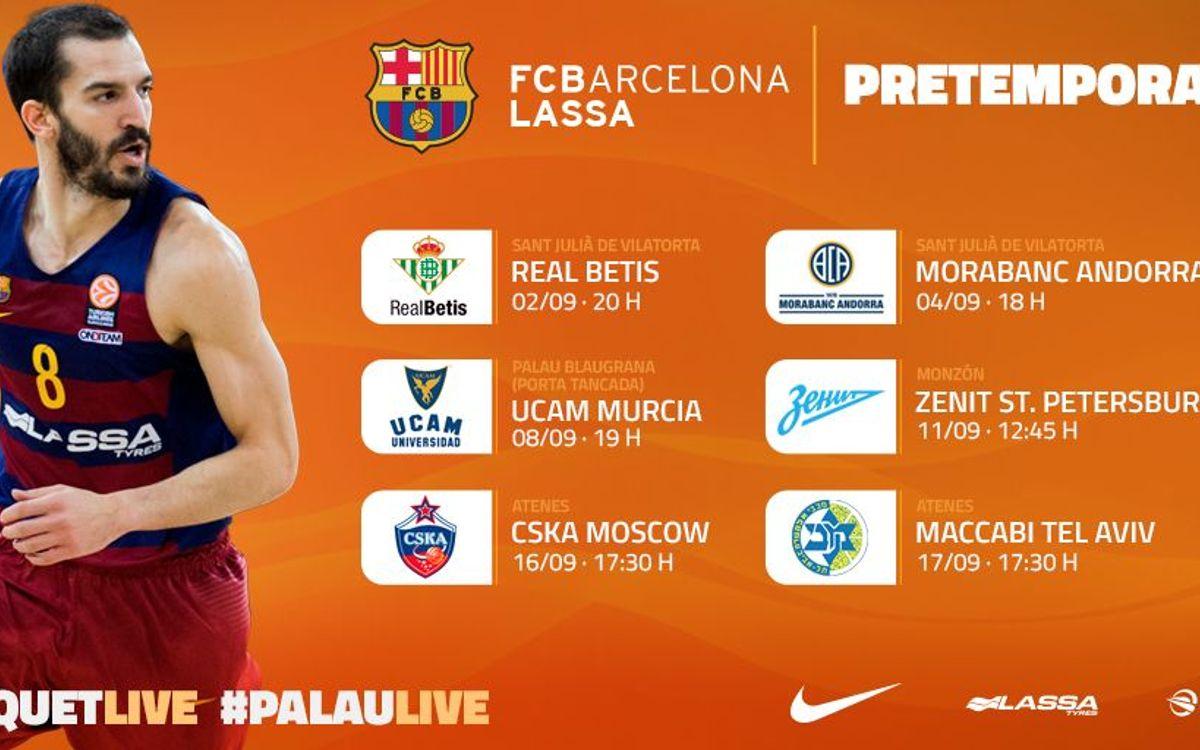 Els partits de la pretemporada del Barça Lassa, al detall