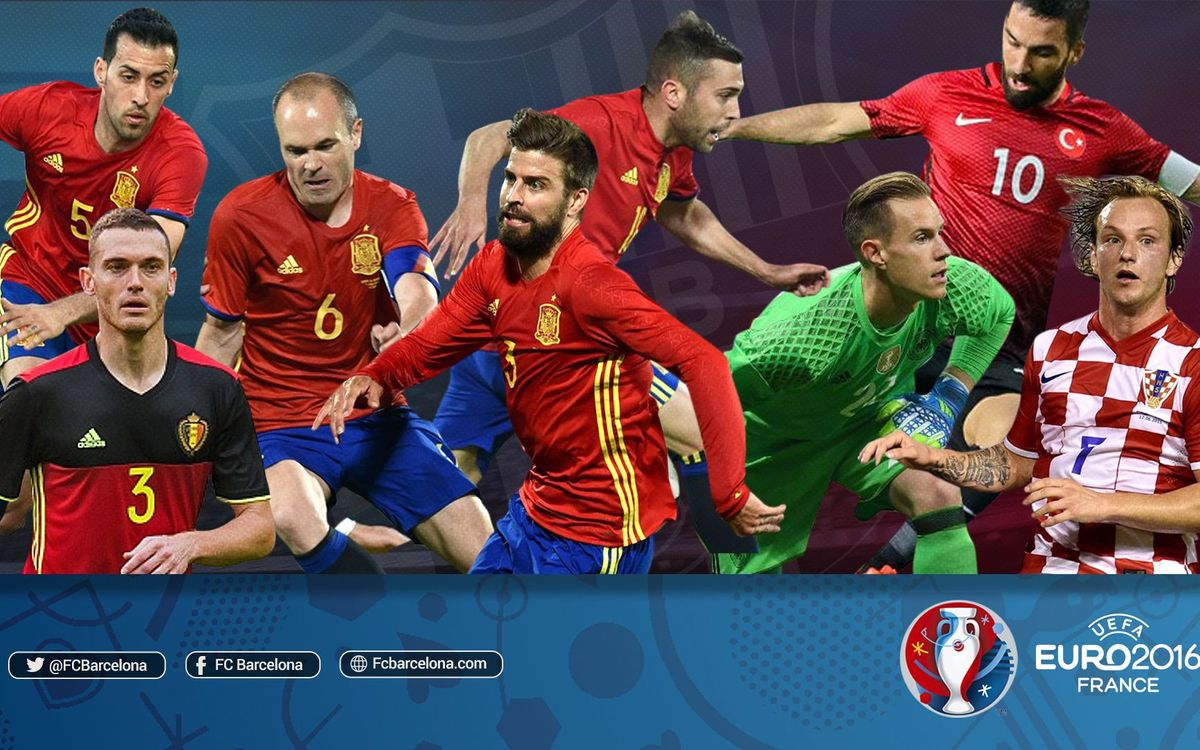 El 1X1 de los jugadores del FC Barcelona durante la primera fase de la Eurocopa 2016