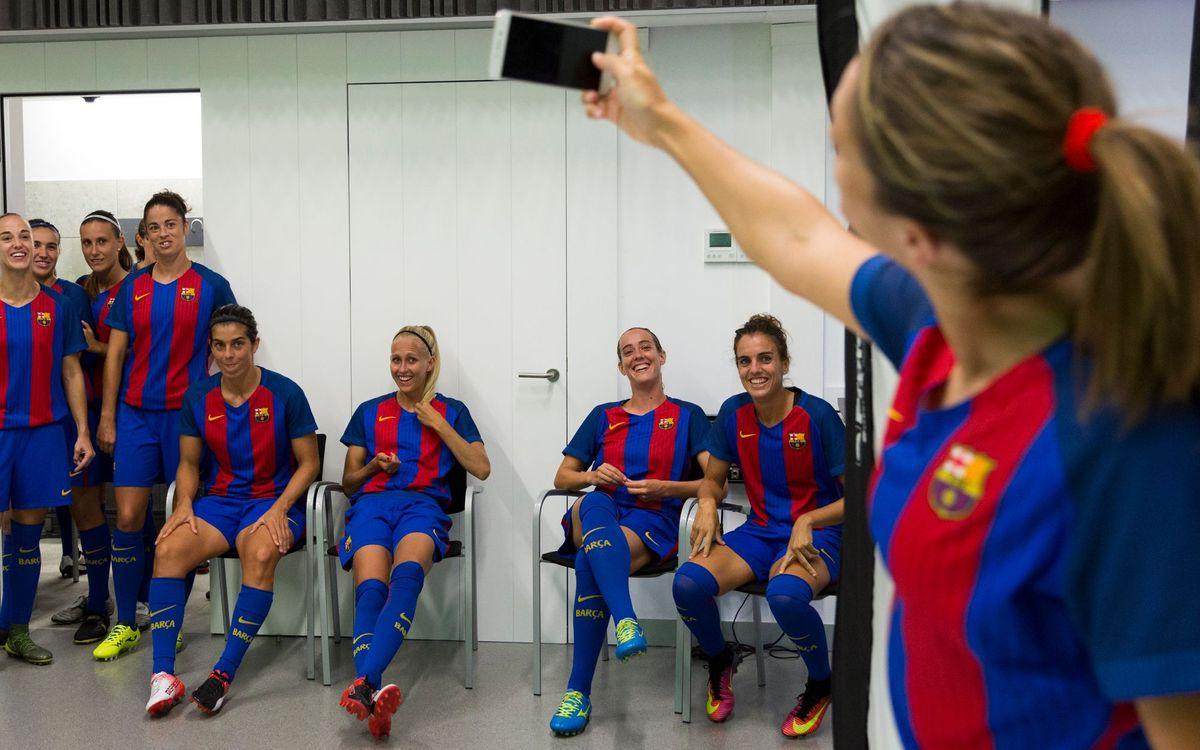 Així es van fer les fotos oficials del Barça Femení