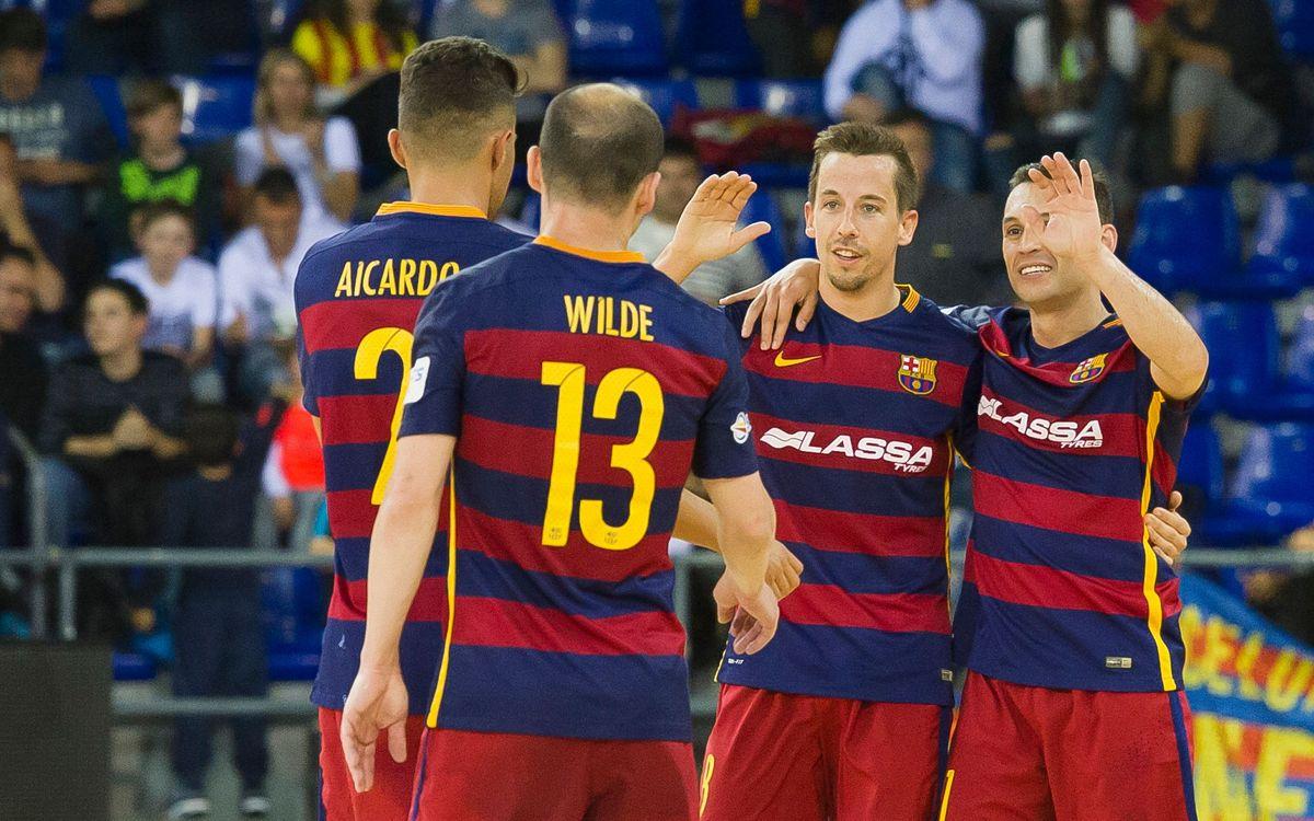 El Barça Lassa buscarà el seu rècord golejador a la LNFS