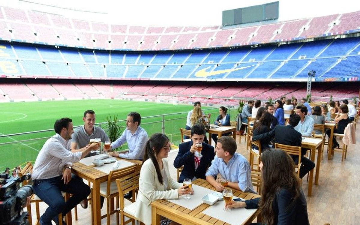 'The Balcony', the perfect summer terrace at Camp Nou