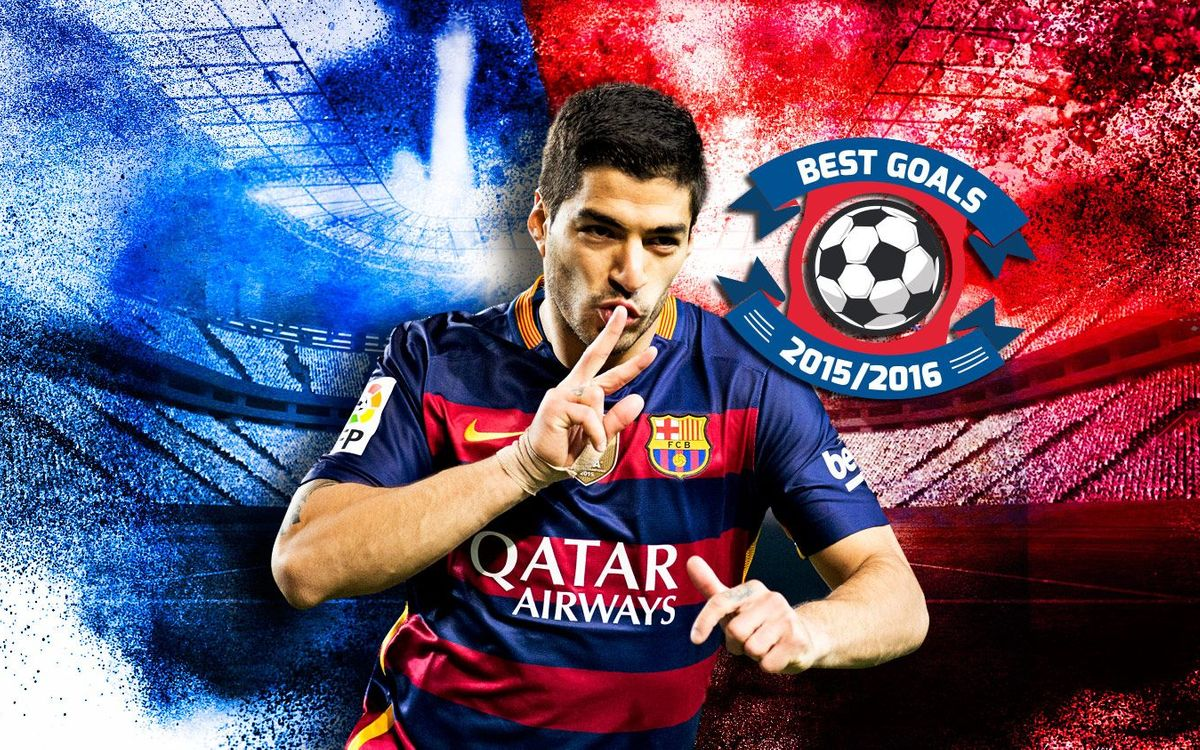 The ten best goals scored by Luis Suárez in the 2015/16 season