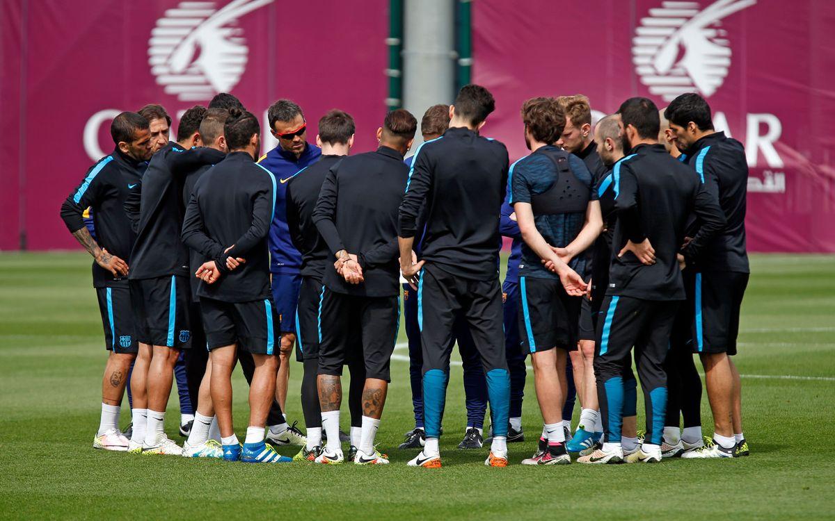 Los 19 convocados para afrontar la vuelta de cuartos de la Champions League