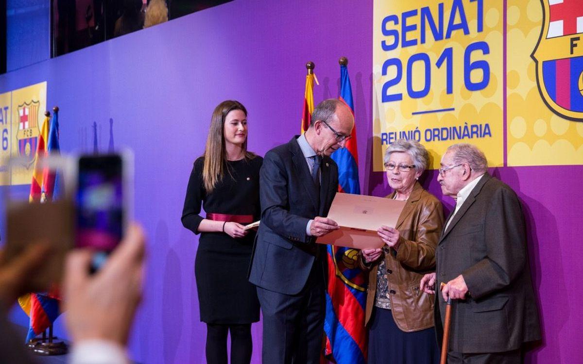 Acto de proclamación de los nuevos senadores blaugrana