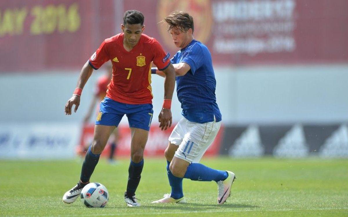 Participació blaugrana en la golejada de la selecció espanyola sub-17