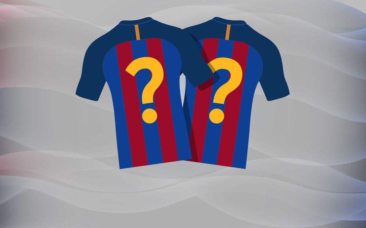 FC Barcelona shirt numbers for 2016/17 season