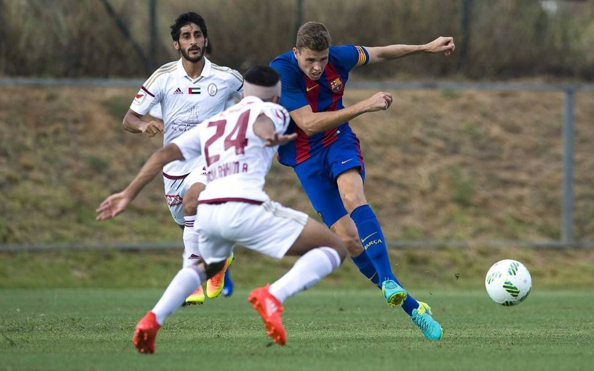 Barça B - Al Wahda: Goleada durante la estancia en Peralada (3-0)