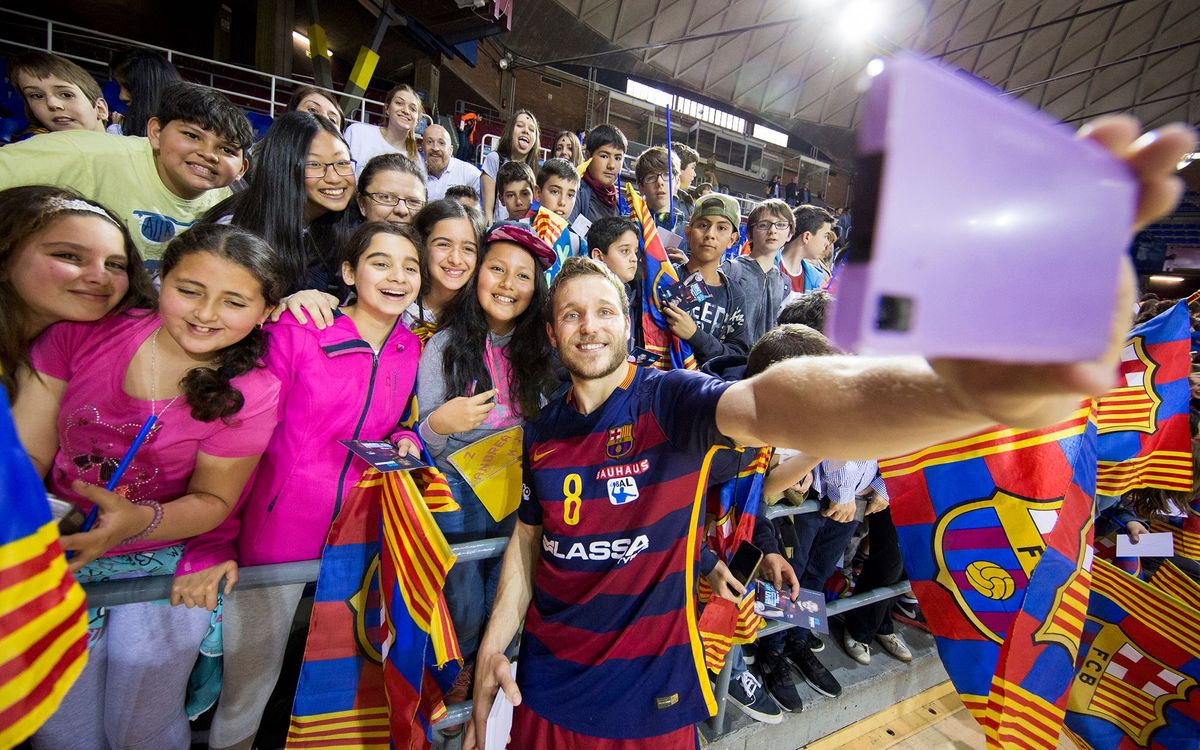 3873 sonrisas con el Barça Lassa de balonmano