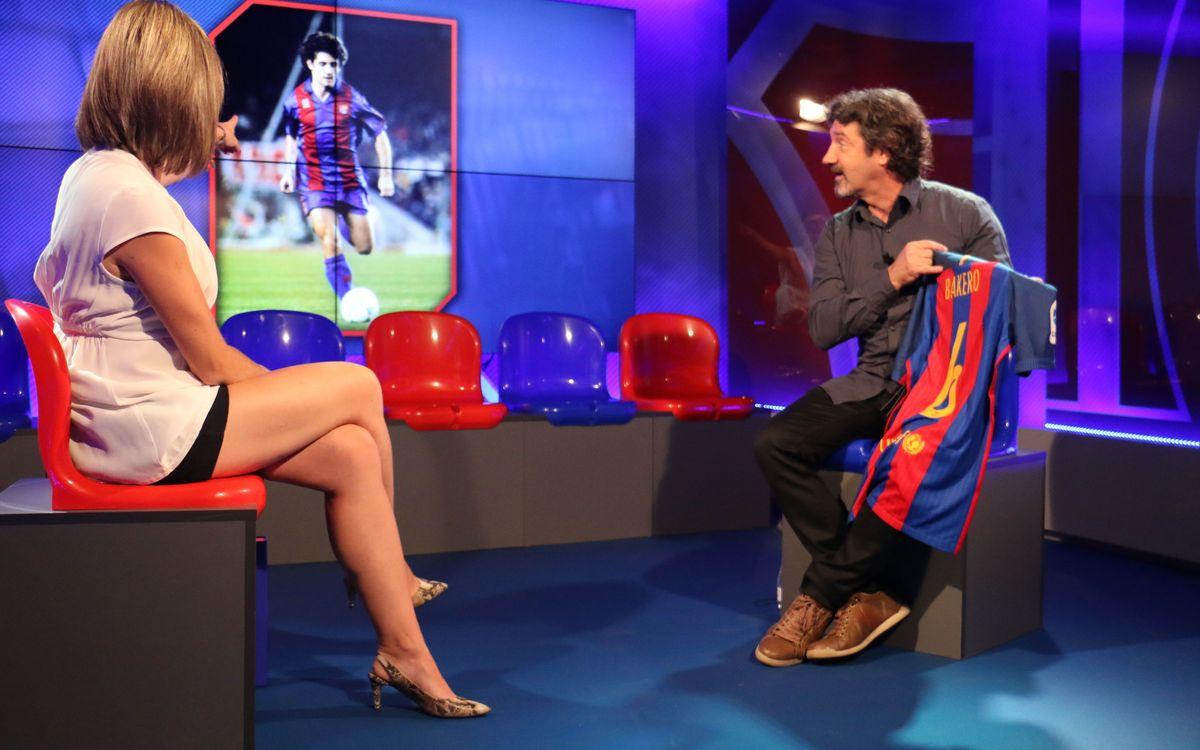 Jose Mari Bakero and a new FC Barcelona shirt that brings back old memories