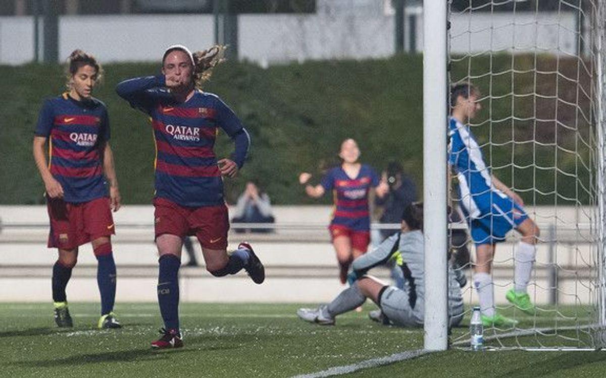 El Femenino B golea al Espanyol B (4-0)