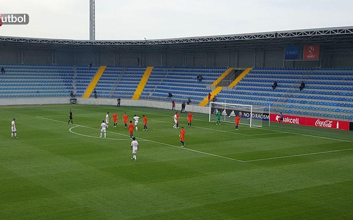 España sub17 empieza el Europeo ganando a Holanda con goles de Mboula y Abel Ruiz