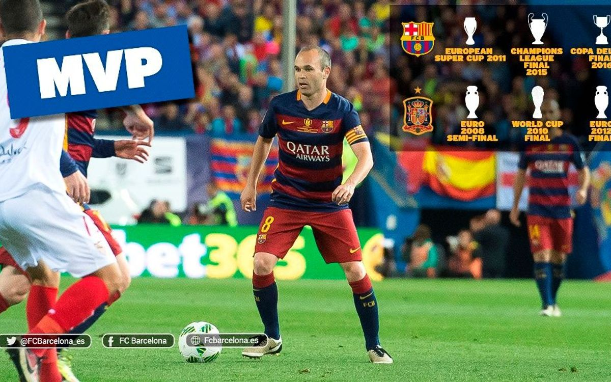 Andrés Iniesta, the MVP king