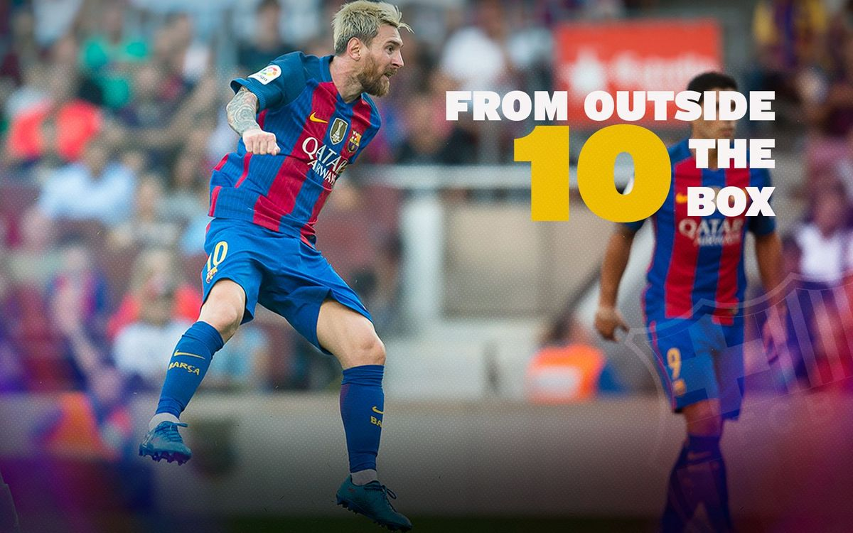 Top Leo Messi goals from outside the area