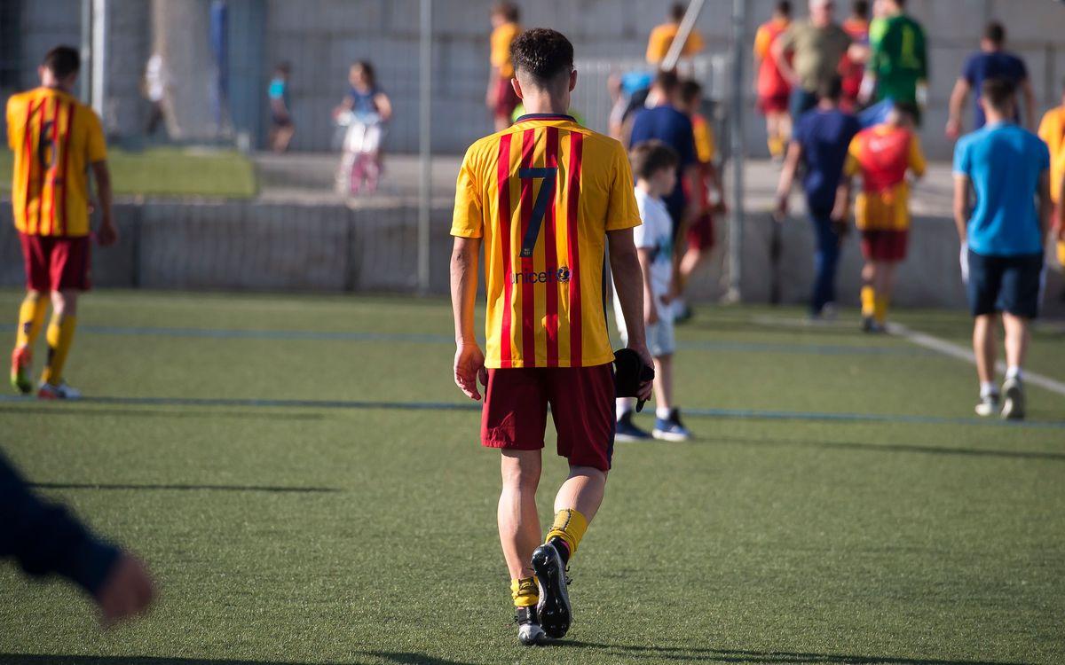 Badalona - Juvenil B: Luchan la Liga hasta el último suspiro (0-4)