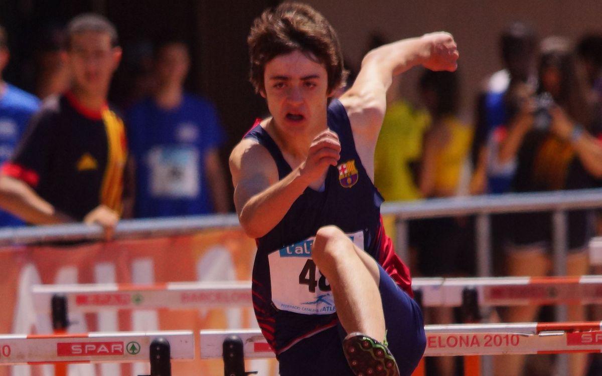 El blaugrana Aleix Porras bat el rècord dels 400 metres tanques