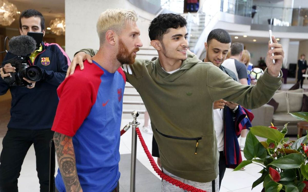 FC Barcelona land in Dublin