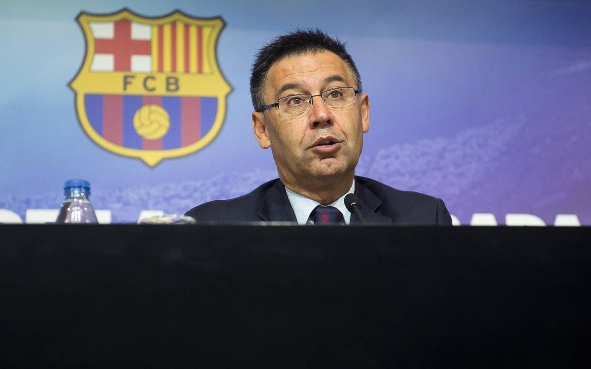 "Josep Maria Bartomeu: ""We are in an enviable situation"""