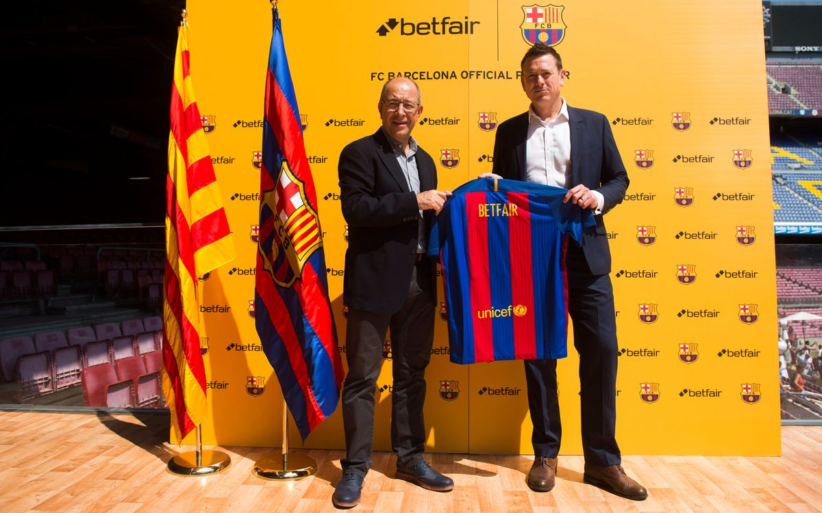 Betfair, new sponsor of FC Barcelona