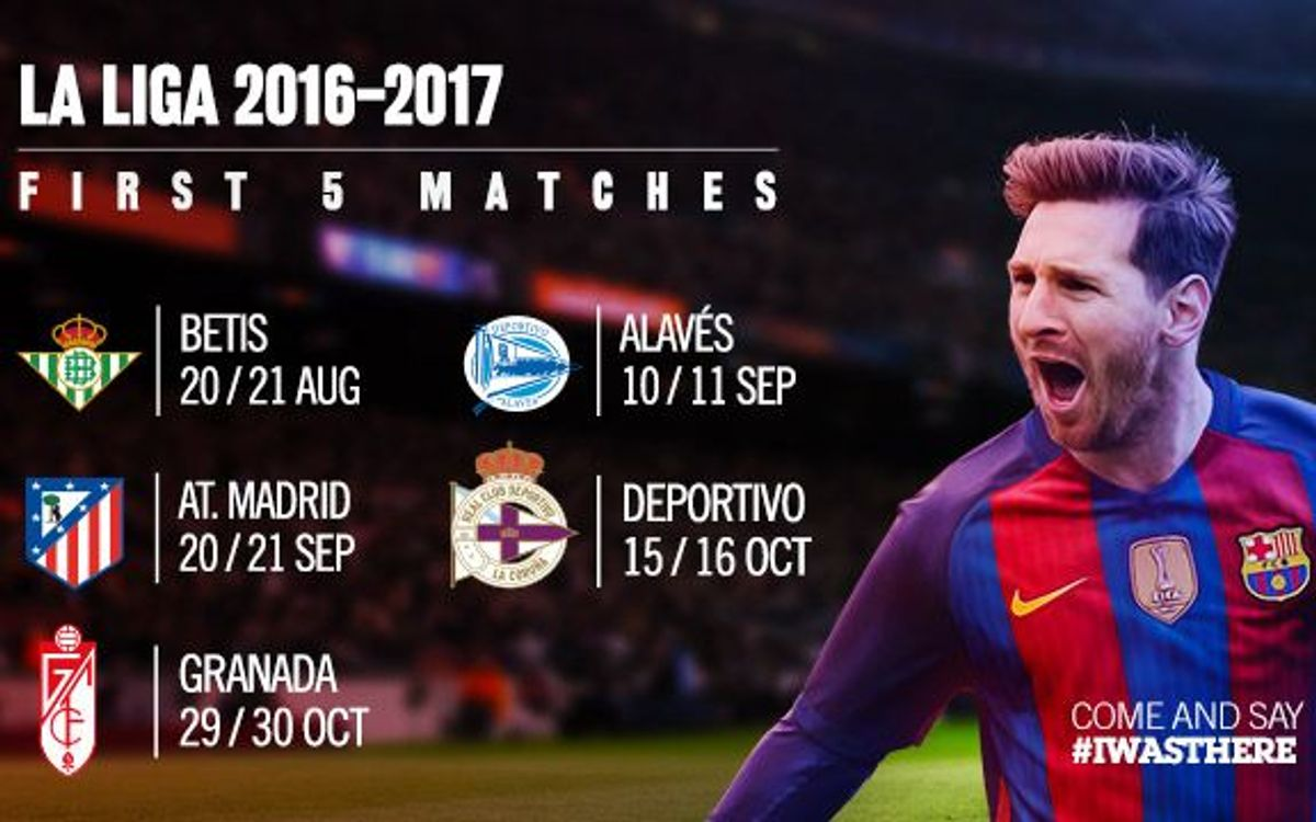 Tickets to go on sale for the first five league matches at Camp Nou