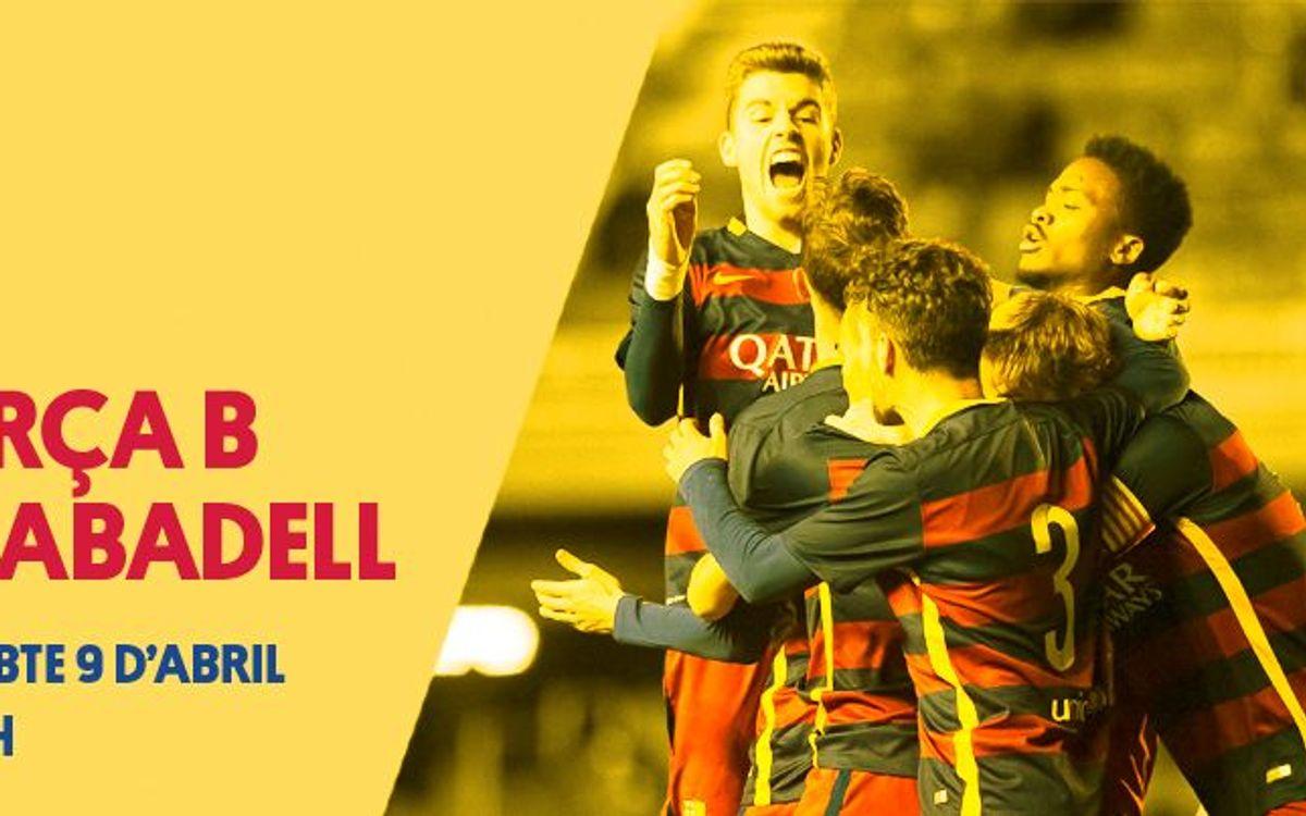 Barça B - CE Sabadell: Uno de los retos pendientes de esta temporada