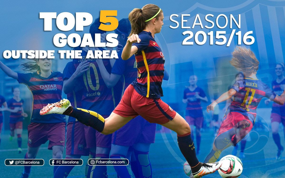 Top five FC Barcelona women's team scorchers from outside the area