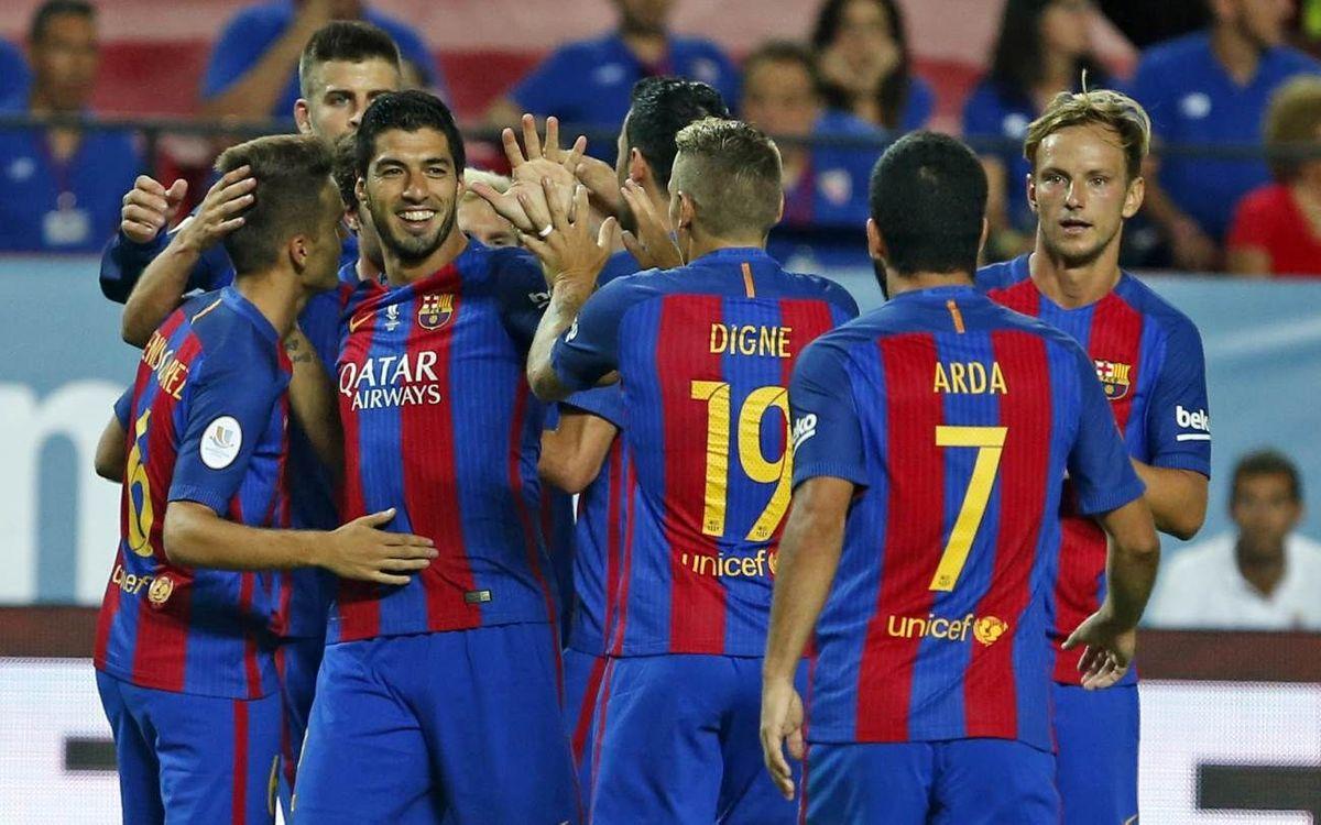 FC Barcelona – Sevilla FC: Estrena tranuitadora per ser Supercampió