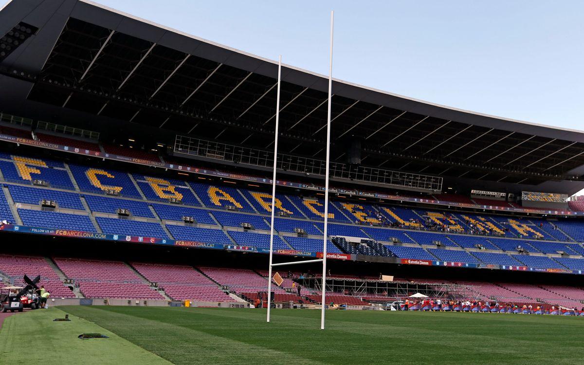 Todo preparado para que el Camp Nou sea la sede mundial del rugby