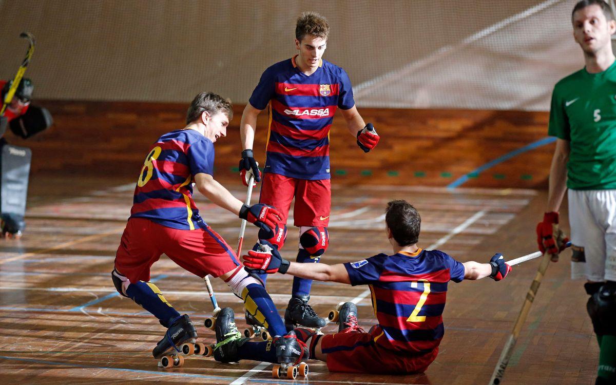 El Barça B de hockey se gana el ascenso deportivo a la OK Liga
