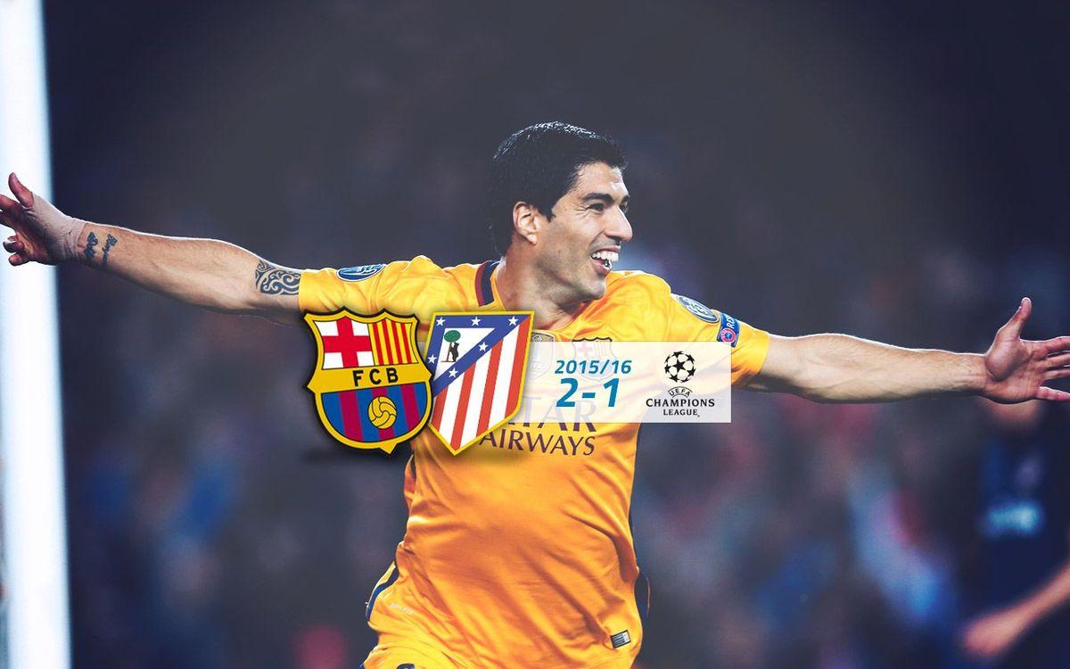 FC Barcelona: 2 - Atlético: 1 (Champions League)