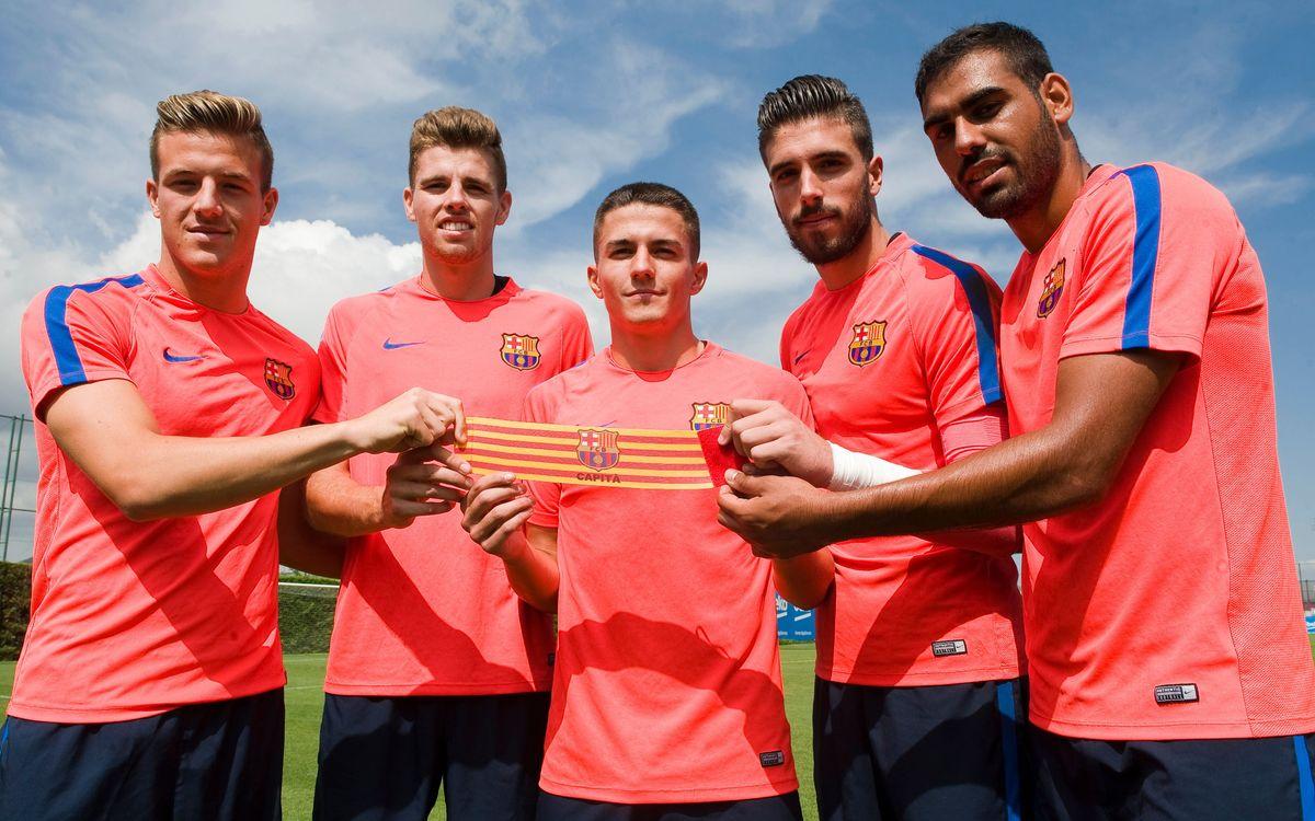 Palencia, Gumbau, Suárez, Tarín y Fali, nuevos capitanes del Barça B 2016/17