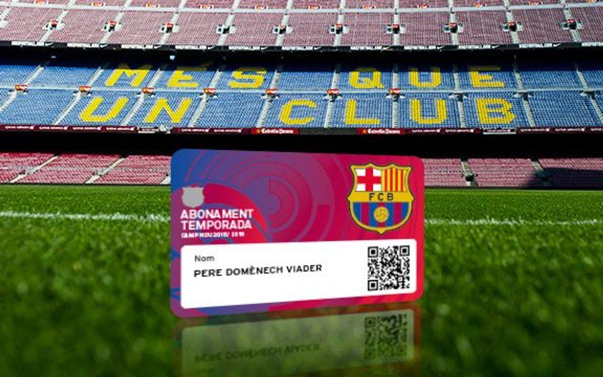 Nueva numeración en la lista de espera de abonos en el Camp Nou