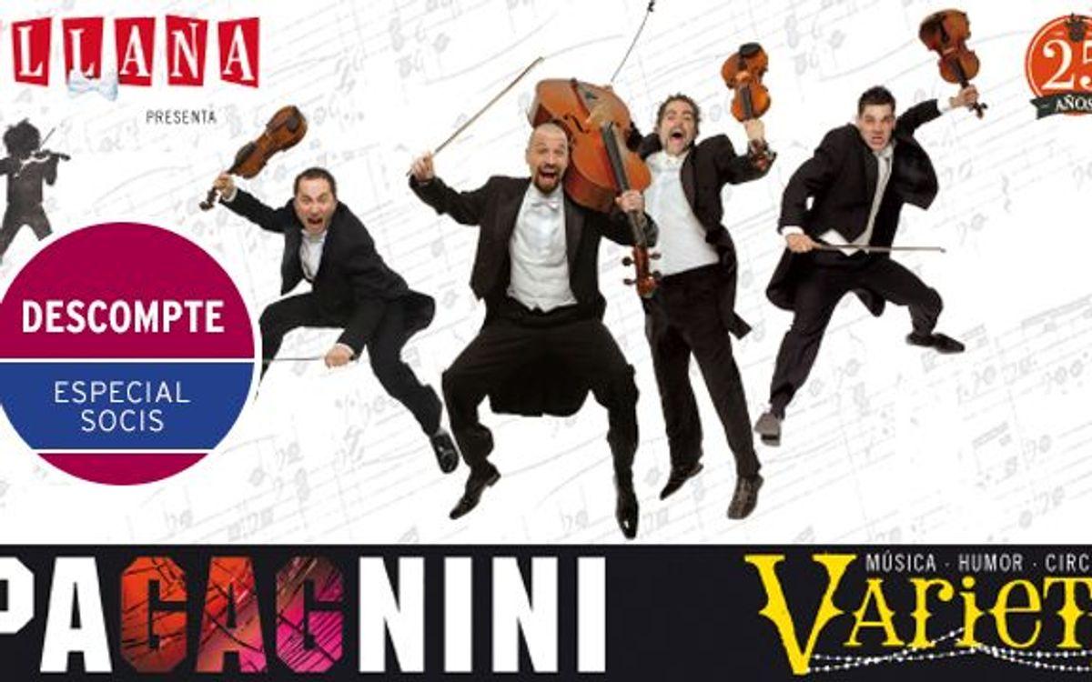 'Yllana: PaGAGnini' en el Teatre Condal con descuento especial para los socios