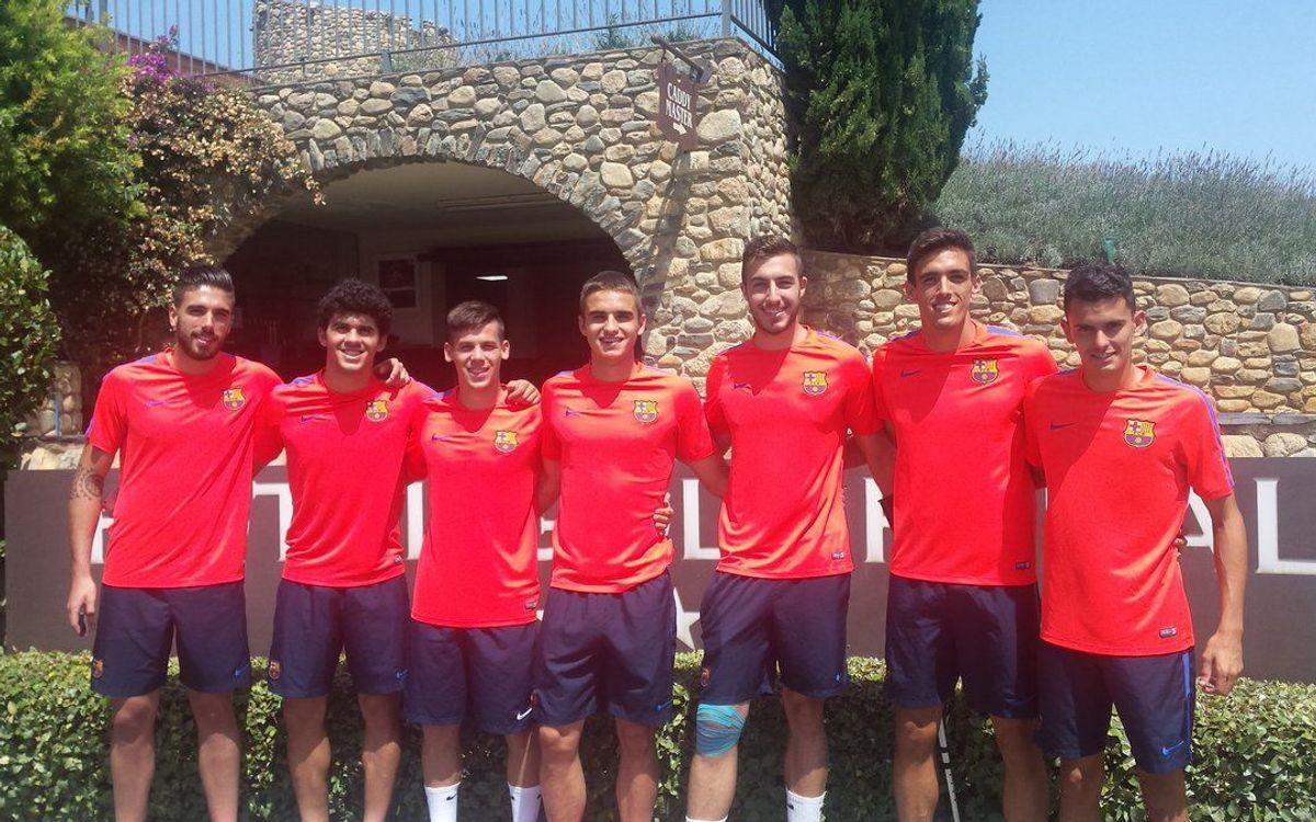 Suárez, Aleñá, Carbonell, Varo, Martínez, Nili y el juvenil Pérez s'incorporen al Barça B a Peralada