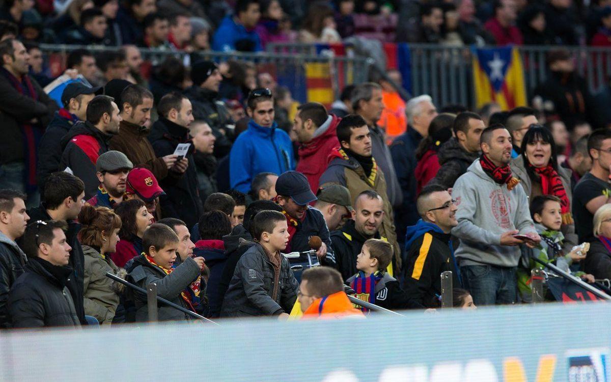 Agotadas las entradas gratuitas para niños y Pasaportes Infantil i Senior para el partido contra el Deportivo
